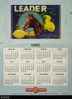 Poster - 1992 Calendar - Leader Brand Fruit Label Picture