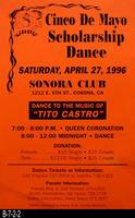 Poster - 1996 - Cinco De Mayo Scholarship Dance