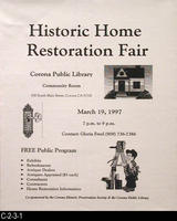 Poster - 1997 - Historic Home Restoration Fair