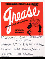 Poster - 1980's - Broadway's Musical Knockout:  Grease