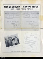 Poster - 1957 - City of Corona Annual Report
