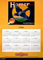 Poster - 1996 Calendar - Homer Brand Fruit Label Picture