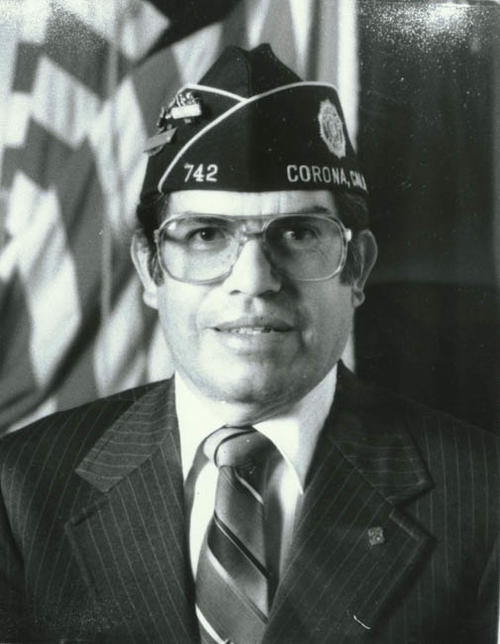 Dioniscio (Mitch) Salgado as commander of American Legion.