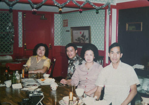 Left to right: Kui Bor Woo, Mee Woo, Tony Woo, and Shoo Kin.