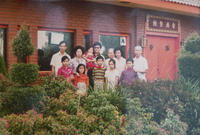 Family in Front of Hong Kong Restaurant