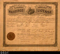 Document - 1908 - Marriage License - Slater-Tucker