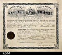 Document - 1904 - Marriage License - State of California - County of Riverside...