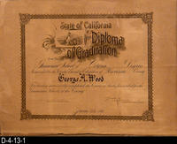 Document - 1910 - State of California, Diploma of Graduation