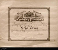 Diploma - 1915 - Grammar  School Diploma of Graduation - School of Corona District...