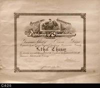 Diploma - 1915 - Grammar  School Diploma of Graduation - School of Corona District...