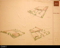 Blueprint  - 1991 - Line Drawing - Corona Public Library  - View from:  7th...