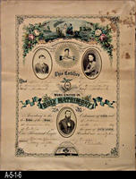 Document - 1873 - Marriage Certificate - Robert B. Taylor and Emma S. Mason