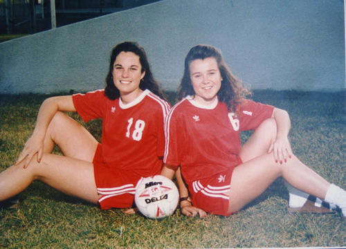 (left to right) Jennifer Farrell and Lisa Black in Centennial High School girls soccer picture.