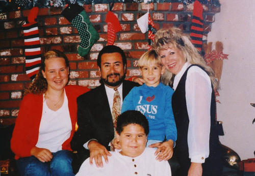 Rodriguez family photo at Christmas time.