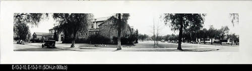 "This B/W photograph is a picture of  the school.  MEASUREMENTS:  8"" X 31 1/2"" - CONDITION:  Copy1 - Good. This picture is kept in a protectice sleeve.   Copy 2:  SCH-Lin 068b is in good condition.   - COPIES:  2"