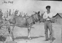 Jess Aguirre with Donkey
