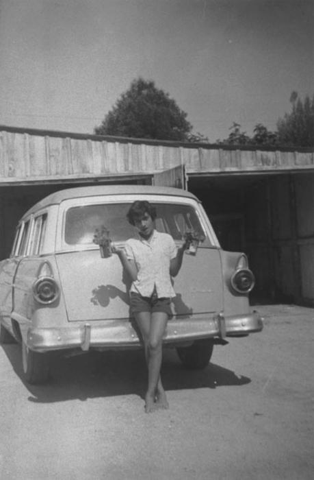 Bernadette Rico and 1955 Ford.