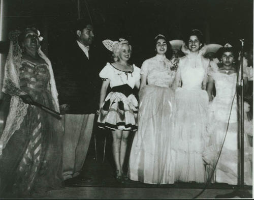 Trini Hernandez and friends dressed up, possibly for a play or pageant.