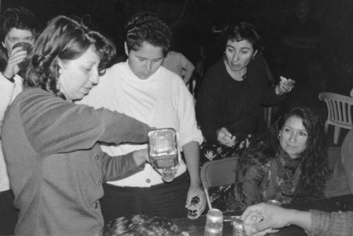 Funeral of Louie Mendoza in 1995. Debbie Varela Lipari, Sylvia Mendoza and Martha Munoz pictured.