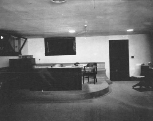 The Chief's office, in the basement, at the Corona Police Department.  Department located at Eighth (8th) and Main Streets.