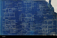 Blueprint - 1948 - Sections - Control Building and Dosing Tanks