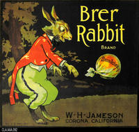 Brer Rabbit (Label Reproduction)