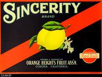 Sincerity (Label Reproduction)