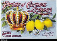 Pride of Corona Lemons (Label Reproduction)