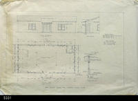 Blueprint - Undated - Boy Scout Building for Corona Lions Club - Floor Plan,...
