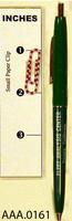 Pen - Green Plastic