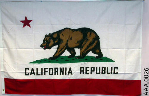 This artifact is a California State Flag with a certificate form California Congressman W. Craig Biddle.  CONDITION:  Excellent