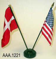 Flags on Stand - Cloth/Plastic