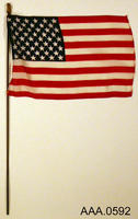 American Flag - Cloth/Wood