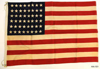 Forty-eight Star Flag - Cloth/Metal