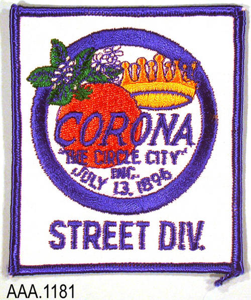 This artifact is a uniform patch worn on the uniform by an employee of the Street Div.