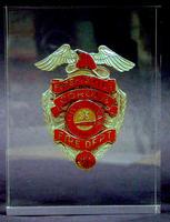 Corona Fire Department Badge - Metal/Lucite
