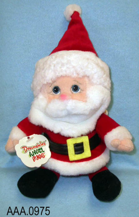 "This artifact collection consists of six stuffed Christmas characters named Santa #08094.  They were handcrafted in China and measures 8"" x 4"".  These Dreamsicles, Angel Hugs characters were ""born on January 13, 2000.""   CONDITION:  These artifacts are in excellent condition."