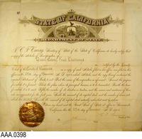 Framed Certificate - Paper