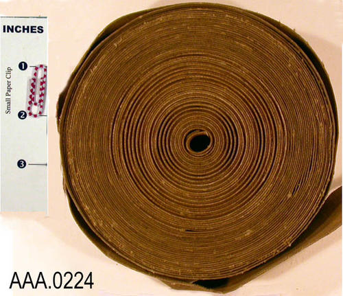 This artifact is a cloth tape measure 66+. It is called an educated tape.  By measuring around the tree you could determine how many shots of pesticides were needed for that particular tree.  This tape was put out by DuPont.