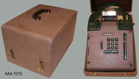 Electric Adding Machine and Case - Metal/Plastic