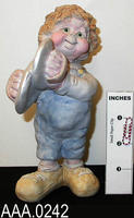 Cast Art/Musician with symbols - Clay