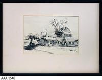 Charcoal Drawing - Live Oak Inn, Corona