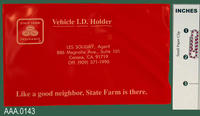 Vehicle I.D. Holder - Plastic