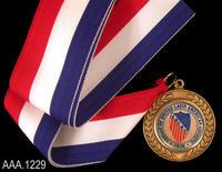 Medallion on Ribbon - Metal/Cloth