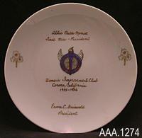Plate - White ceramic